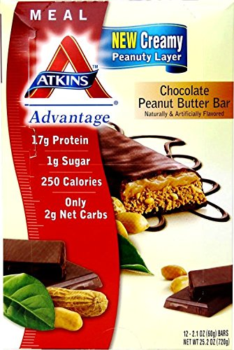 Atkins Advantage Chocolate Peanut Butter Bar, 25.2 Ounce