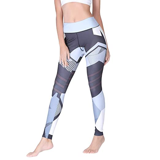 Symboat Women Yoga Pants Geometric Printed Running ...