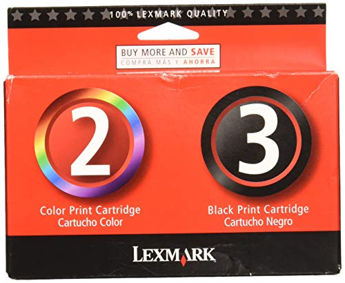 - Lexmark #2 & #3 Mono/color Combo Pack
