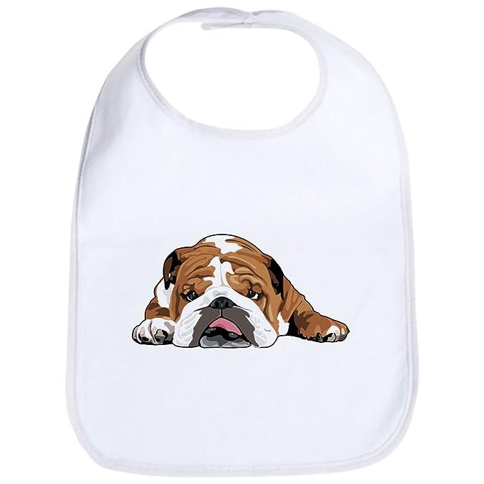 Amazon.com: CafePress – Teddy el Bulldog Inglés babero ...