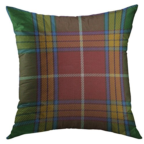 Baxter Sofa - Mugod Decorative Throw Pillow Cover for Couch Sofa,Colorful Accent Baxter Tartan Plaid Scottish Home Decor Pillow case 18x18 Inch
