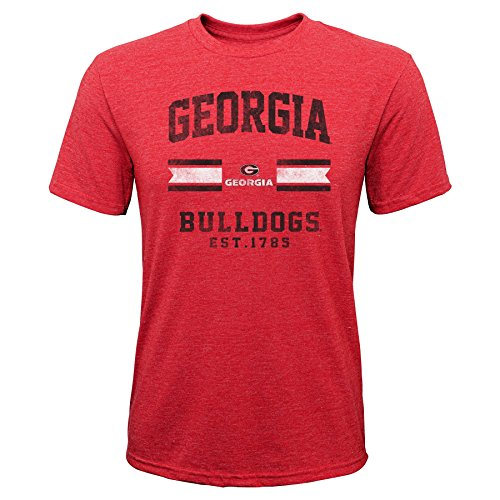 - NCAA Georgia Bulldogs Youth Boys Player Pride Tri-Blend Tee, Youth Boys X-Large(18), Red