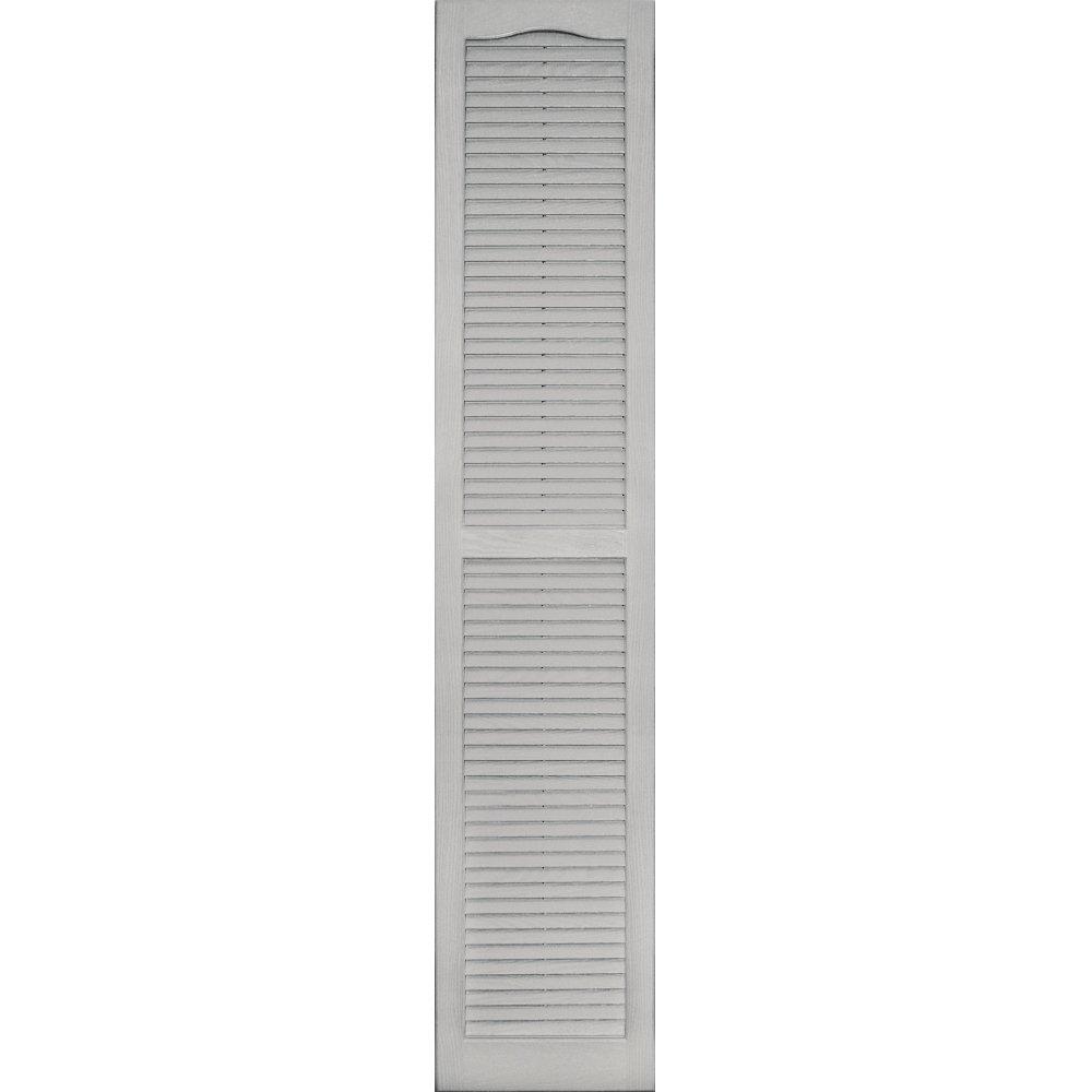 Vantage 0114071030 14X71 Louver Arch Shutter/Pair 030, Paintable