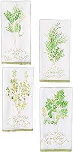 Sullivans 'Rosemary, Sage, Parsley, Thyme' Tea Towel Set, 4 Assorted