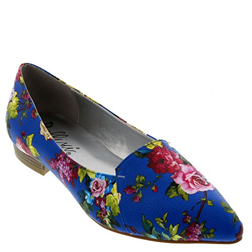 Bellini Flora Fw Womens Slip On Blue-floral