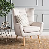 Christopher Knight Home 300790 Tamsin Mid-Century Fabric Club Chair, Wheat