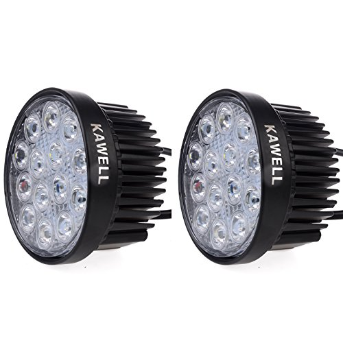 Kawell 2 Pack 42W 30 Degree Round LED Spot Light Off Road Lighting 12V 24V Jeep 4x4 Quad ATV Lighting