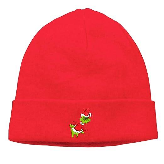 LAfd Caps Warm Beanie Hats The Grinch Unisex Knit Skull Cap at ... 9a6c8357e50