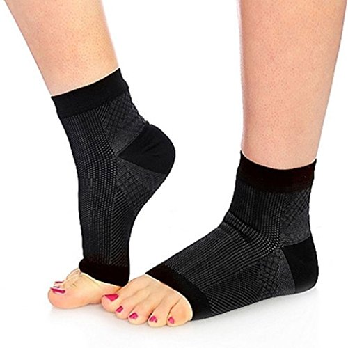 Set Of 2 Anti Fatigue Foot Ankle Varicose Compression Foot Sleeve For Plantar Fasciitis Relief  L Xl Size