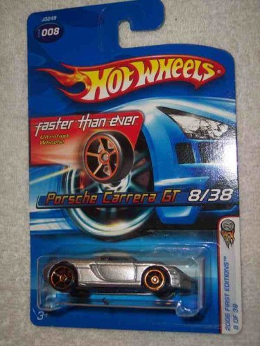 Hot Wheels 2006 First Editions #8 Porsche Carrera GT FTE Wheels #2006-8 Mattel Diecast Collectibles Collector Car
