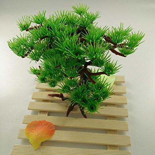Mmdex Artificial Green Tree Plastic Plant Decor For Aquarium Fish Tank Bonsai For Hotel Rockery