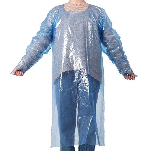 Klykon Disposable Hair Cutting Apron - Waterproof Protective Coveralls - Hair Salon Capes - Pack of 10 Gowns