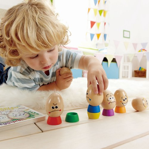 Hape Eggspressions Wooden Learning Toy with Illustrative Book