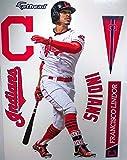 "Francisco Lindor FATHEAD Cleveland Indians Logo Set Official MLB Vinyl Wall Graphics 17"" INCH"