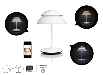 Amazon Com Philips Hue Beyond Dimmable Led White Smart Table Lamp