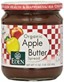 Eden Foods Apple Butter, Og, 17-Ounce (Pack of 3) by Eden