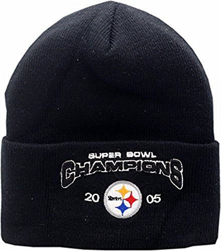 Champions Knit Hat - Peerless Embroidery Company Pittsburgh Steelers 2005 Super Bowl Champions Cuffed Knit Hat