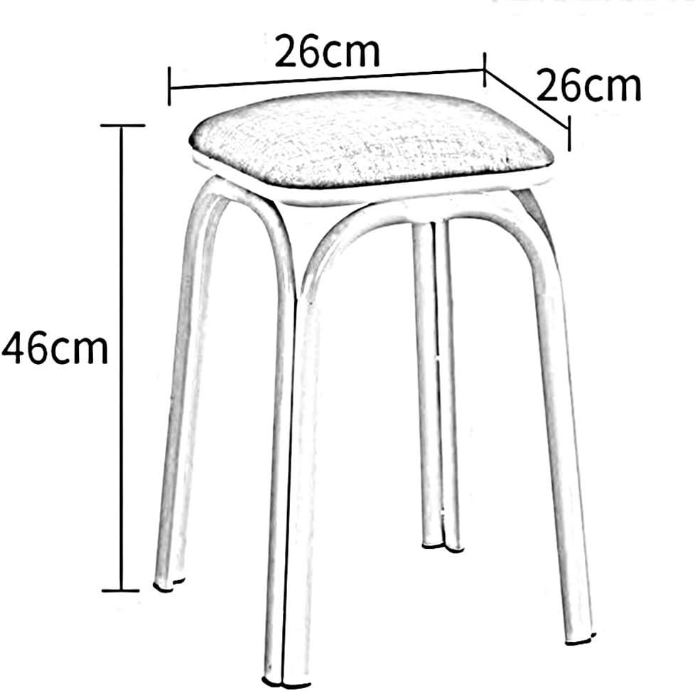 SXZHSM Kunststof Stackable Kruk Dome Restaurant Kruk Restaurant Metalen Beentas 2-delige Set stoel T5