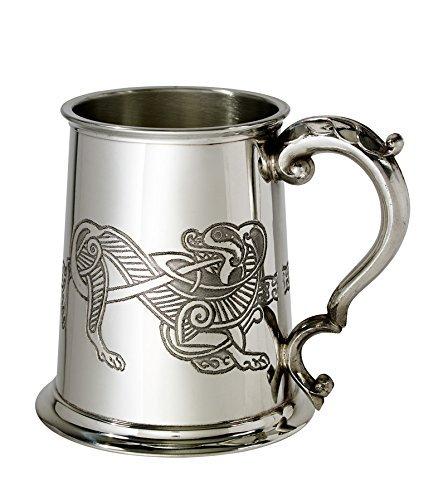 Wentworth Pewter Celtic Lion 1 Pint Pewter Tankard ()