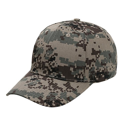 Panel Pro Style Twill Cap (Digital Camoflage Cotton Twill Low Profile Pro Style Hat)