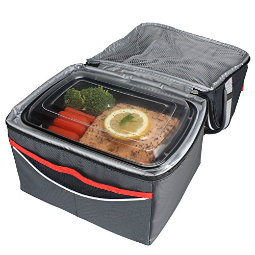 freshware 1 compartment bento lunch boxes with lids stackable reusable microwave dishwasher. Black Bedroom Furniture Sets. Home Design Ideas