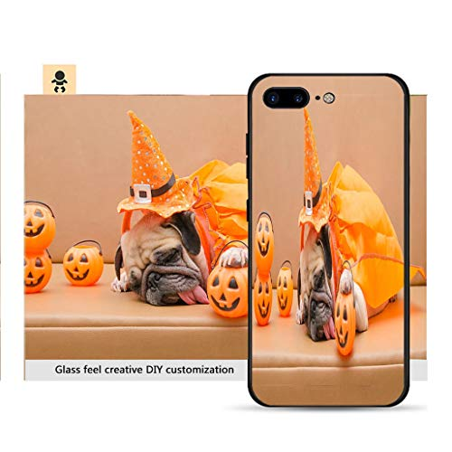 iPhone 7p / 8p Ultra-Thin Phone case Pug Dog with Halloween Costume Sleep on Sofa Resistance to Falling, Non-Slip, Soft, Convenient Protective case -