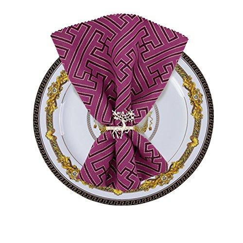 Elehere Set of 8 Deer Napkin Rings for Wedding Valentines Day Dinners Parties Table Napkin Holders (Silver Deer) -