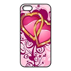 Love Pink iPhone 5 5s Cell Phone Case Black Dhtnk