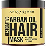 unite moisture treatment - Aria Starr Argan Oil Restorative Mask Repair Hair Treatment - Best Professional Moisturizer & Deep Conditioner For Damaged, Dry, Brittle, Curly, Frizzy, Color Treated & Natural Hair