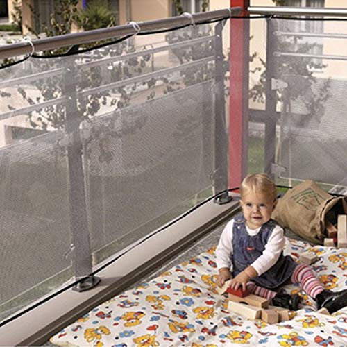 OSOPOLA Children Safety Net Balcony Patios Railing Stairs Netting - Kids/Pets/Toys - Indoor/Outdoor Use (White)