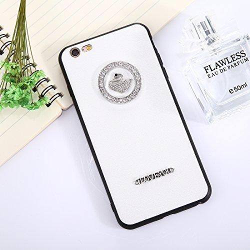 Phone Case & Hülle für iPhone 6 Plus und 6s Plus 3D Swan Muster Diamant TPU Schutzhülle ( Size : Ip6p8548w )