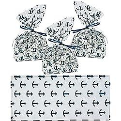 Nautical Anchor Cellophane Party Favor/Wedding Bags (24)