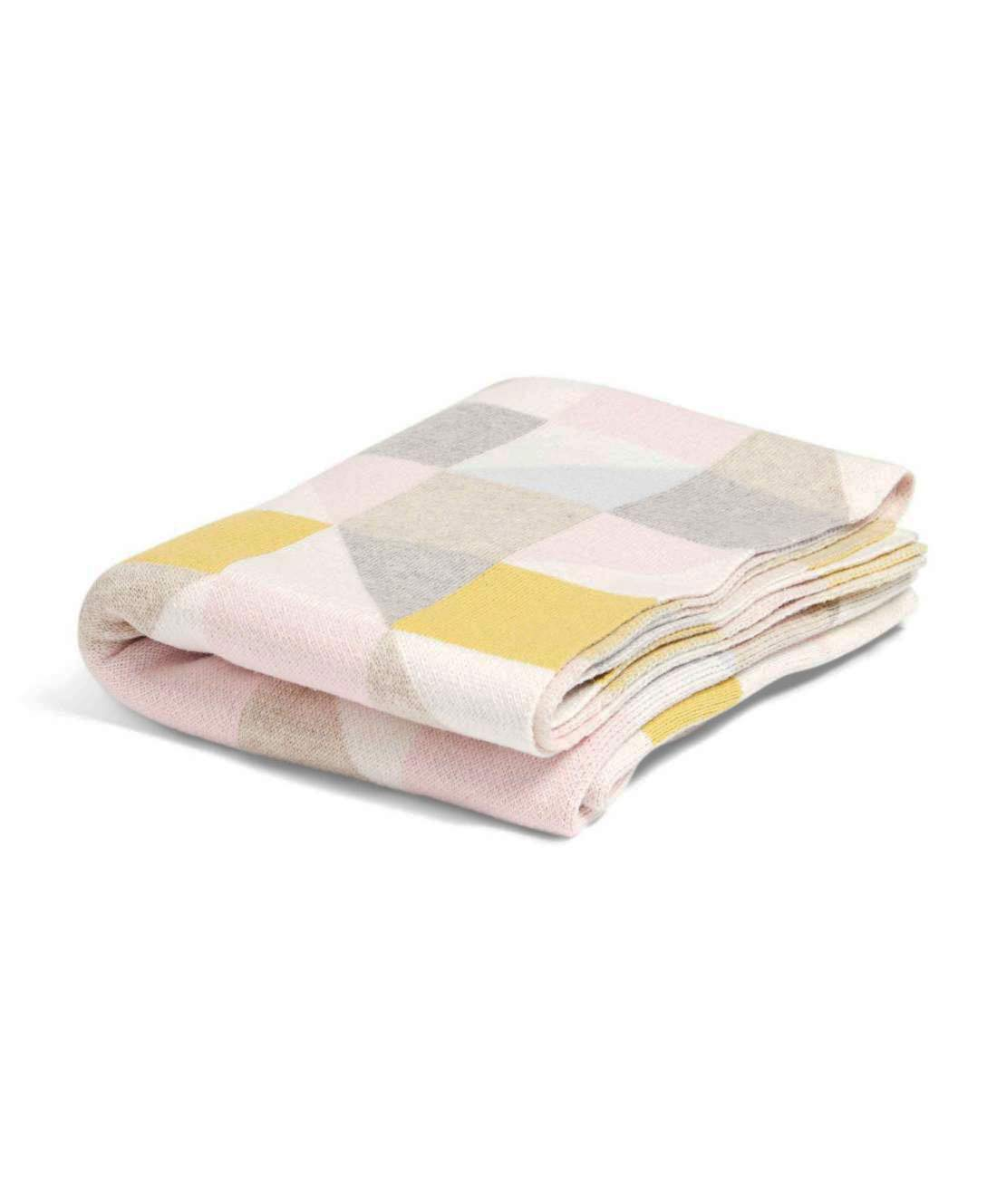 Crib Spot Nursery Bedding Mamas /& Papas Knitted Blanket for Pram Bed Moses