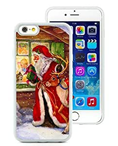 Fashion Style Case Cover For Apple Iphone 4/4S Merry Christmas White Hard Case 59