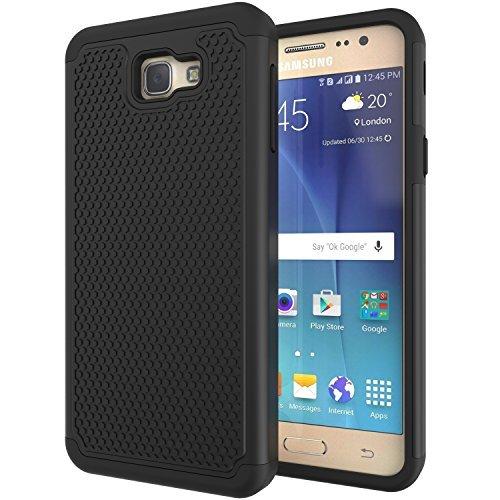 Galaxy J7 Prime G610 Case,Galaxy On7 2016 Case,Galaxy On NXT Case,ANLI(TM) Hybrid Dual Layer Protective Case Cover for Samsung Galaxy J7 Prime (G610) / On7 2016 / On NXT Black