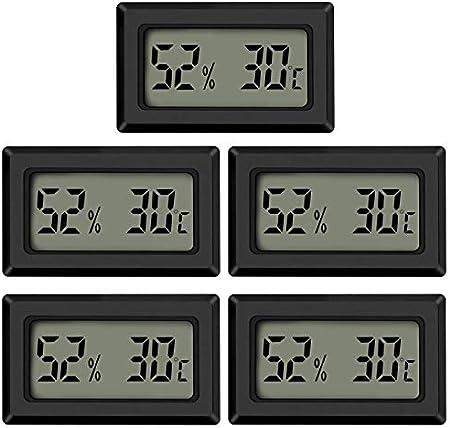 【Monitor de temperatura de humedad en el hogar】 Este termómetro higrómetro portátil mide la humedad