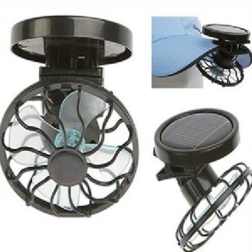 Flytaker Portable Mini Solar Clip Fan Household Hat Cap Cooling Fans Energy Saving (Clip Fan Solar)