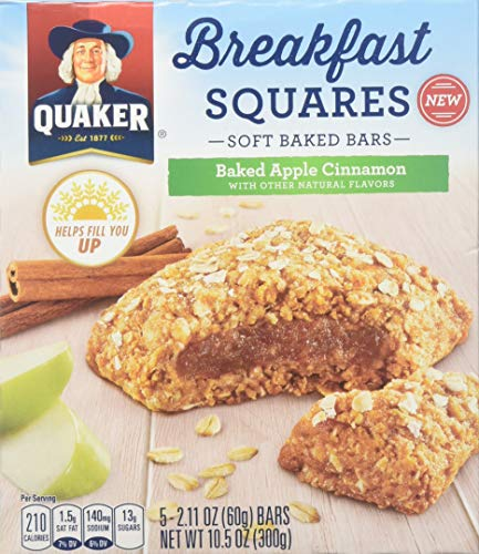 Quaker Breakfast Squares Apple Cinnamon 10.5oz
