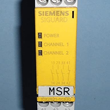 Siemens 3TK28 28-1AJ21 Safety Relay Auto Start 2 NO 45mm Width 2 NO Enabling Contacts 1 NC Signal Contacts For Emergency Stop and Protective Doors 2 NO Screw Terminals 115VAC Rated Voltage 2 NO Enabling Contacts 1 NC Signal Contacts 45mm Width