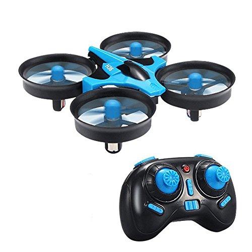 Drone, H36 Mini Drone 2.4G 4CH 6Axis Gyro Headless Mode Remote Control RC Quadcopter RTF One-key Return Eway Drone (blue 02)