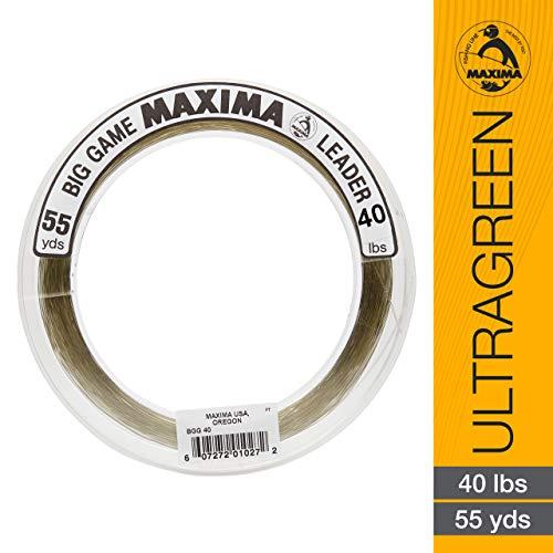Maxima Fishing Line Big Game Leader Wheel, Ultragreen, 40-Pound/55-Yard