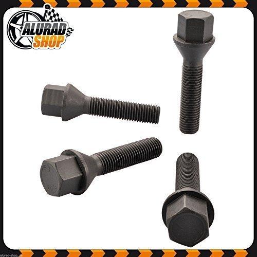 37mm Haskyy 10 Radschrauben Radbolzen SCHWARZ Kegelbund Kegel M14x1,5 in verschiedenen Schaftl/ängen zur Auswahl