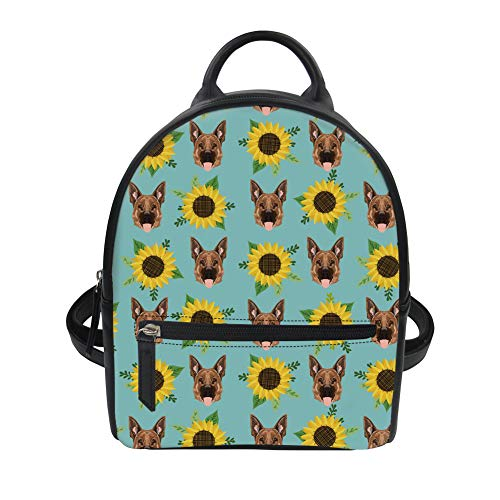 Fashion 7 Instantarts Color Floral Purse Backpack for Girl Women Cute Mini Vintage Dog OqFZI