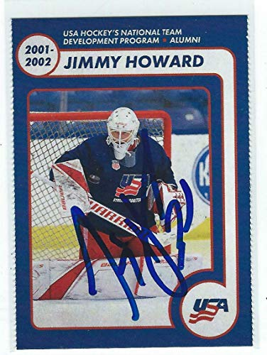 - Jimmy Howard Signed USA NTDP 2018/19 Team Issued Alumni Card Detroit Red Wings - Hockey Slabbed Autographed Cards