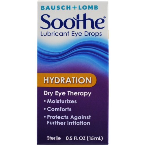 Bausch + Lomb Soothe Hydration Eye Drops, 0.5 Ounce Bottle