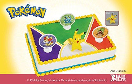 Pokemon Birthday Cake Topper Decorating Kit by Bakery Crafts