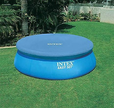 Intex Piscina de lona para piscina Easy, Negro Ø 244cm vliesstoff-markt Pool protectora lona de protección