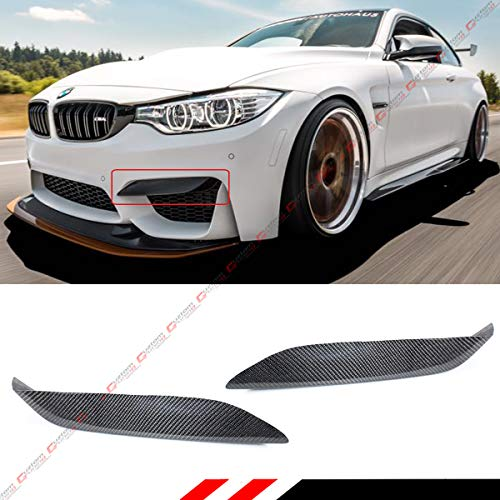 Fits for 2015-2018 BMW F80 M3 F82 F83 M4 Carbon Fiber Front Bumper Air Vent Eyelid Cover Lips Fang