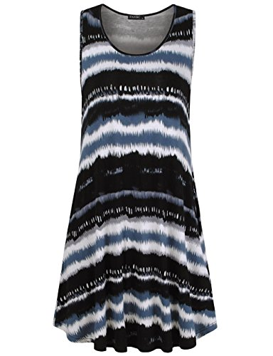 FANSIC-Summer-Womens-Casual-Sleeveless-Tank-Dress-Swing-T-Shirt-Dresses-With-Pocket