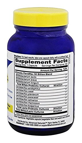 Advanced Naturals Ultimate Floramax 50 Billion Supplement, 60 Count